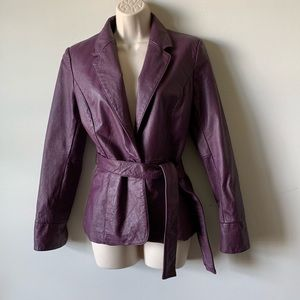 Vintage 90s spiegel purple leather jacket
